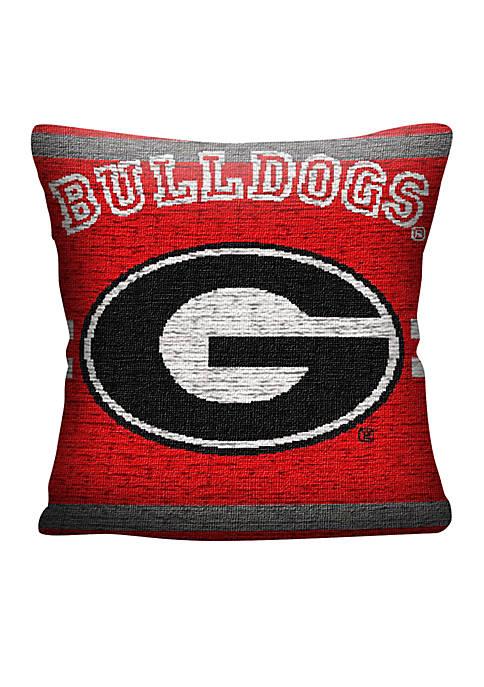 Georgia Bulldogs Jacquard Pillow