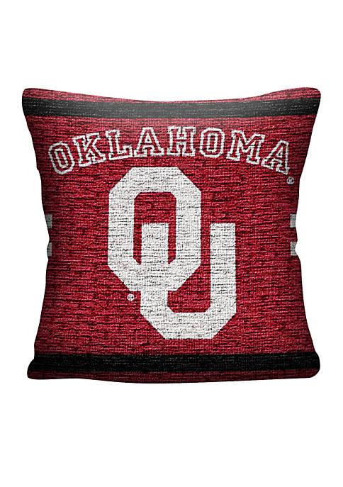 Oklahoma Sooners Jacquard Pillow