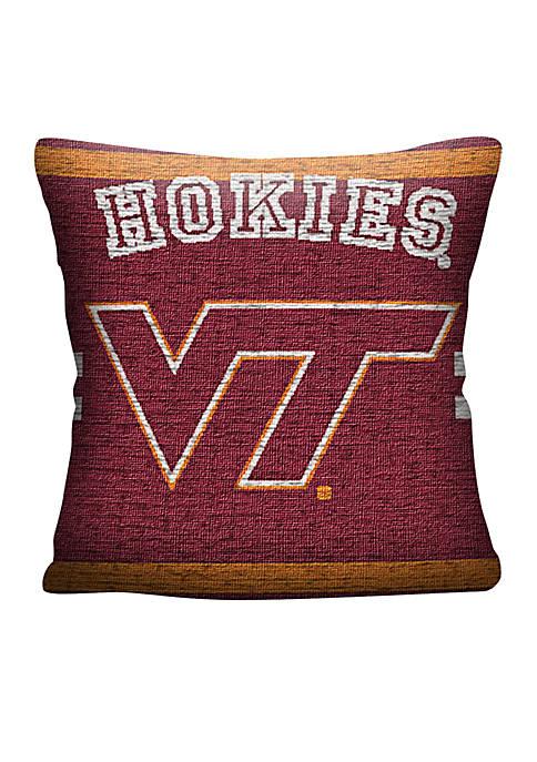 Virginia Tech Jacquard Pillow