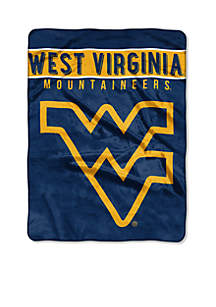 West Virginia Mountaineers Plush Raschel 60 x 80 Throw