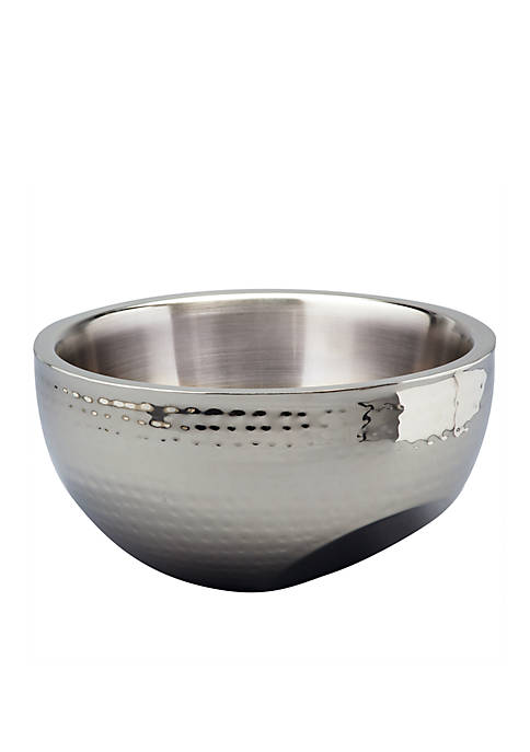 Elegance by Leeber Hammered Dual Angle Bowl