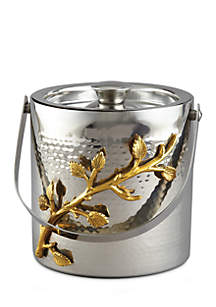 Elegance by Leeber Golden Vine Hammered Ice Bucket