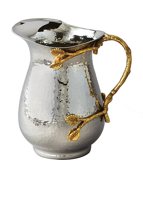 Elegance by Leeber Golden Vine Hammered Pitcher