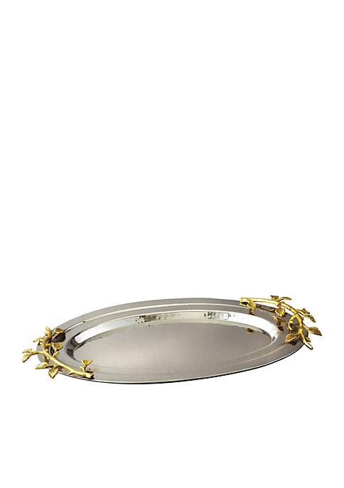 Elegance by Leeber Golden Vine Oval Tray
