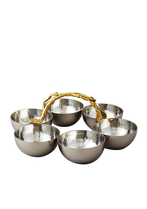 Elegance by Leeber Golden Vine 6 Bowl Server