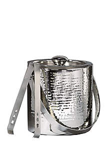 Elegance by Leeber Hammered Ice Bucket with Tongs