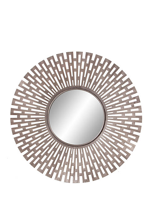 Patton Picture Champagne Round Geometric Sunburst Mirror