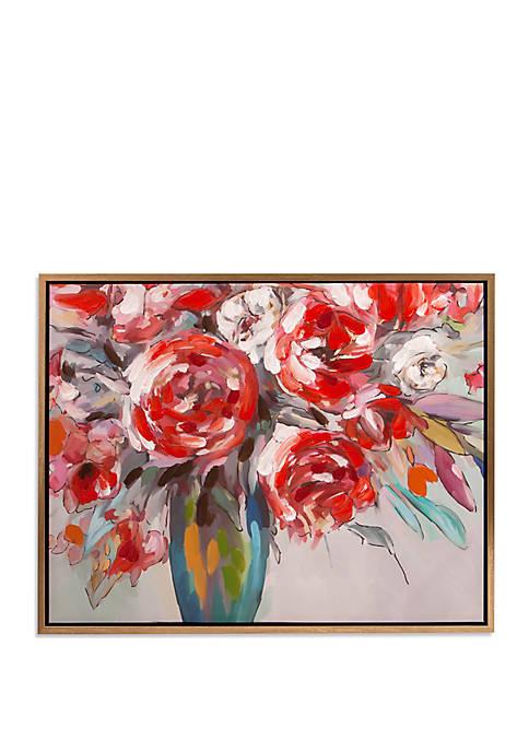 Scarlet Bouquet Floral Framed Canvas Art