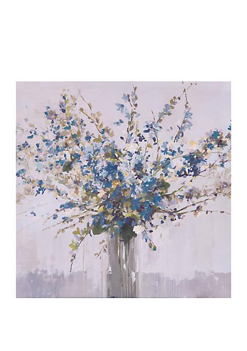 Patton Picture Blue Bouquet Floral Canvas Art