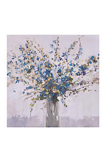 Patton Picture Blue Bouquet Floral Canvas Art