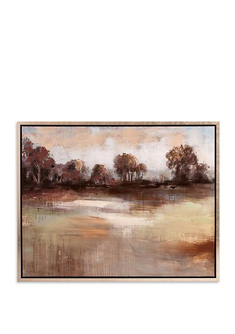 Patton Picture Pastoral Landscape Framed Canvas Art