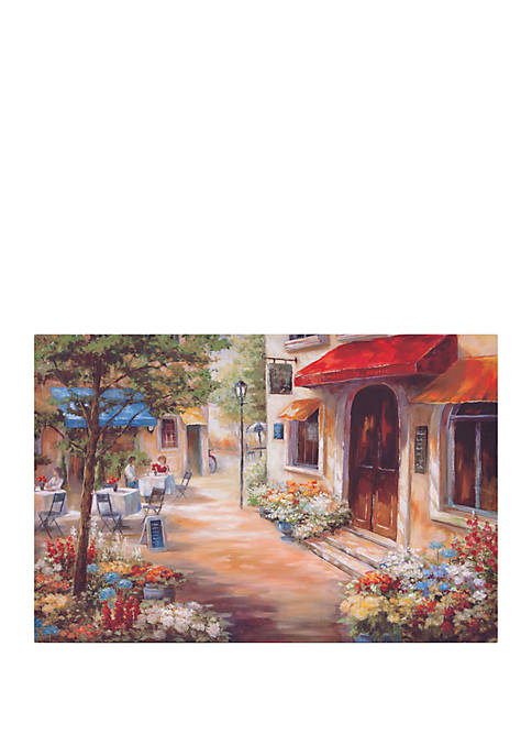 Patton Picture Cafe Afternoon Landscape Canvas Art