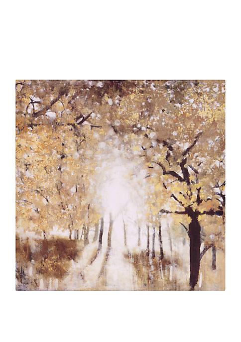 Patton Picture Golden Forest Landscape Canvas Art