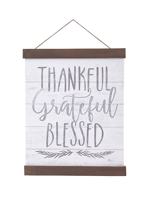 Patton Picture Thankful Grateful Blessed Hanging Canvas Print