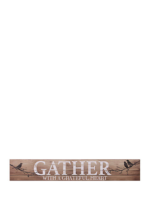 Gather with a Grateful Heart Wood Wall Art