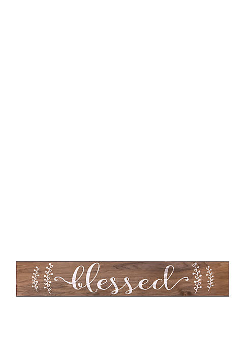 Patton Picture Blessed Rustic Wood Wall Art