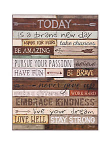 Patton Picture Today Is A Brand New Day Wood Wall Art