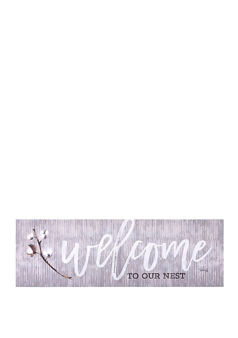 Welcome To Our Nest Canvas Art