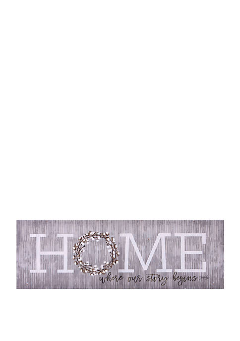 Home is Where Our Story Begins Canvas Art