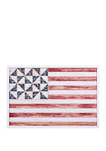 Patton Picture Geometric American Flag Wood Wall Art
