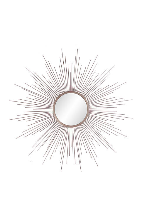 Patton Picture Champagne Rays Sunburst Metal Framed Mirror