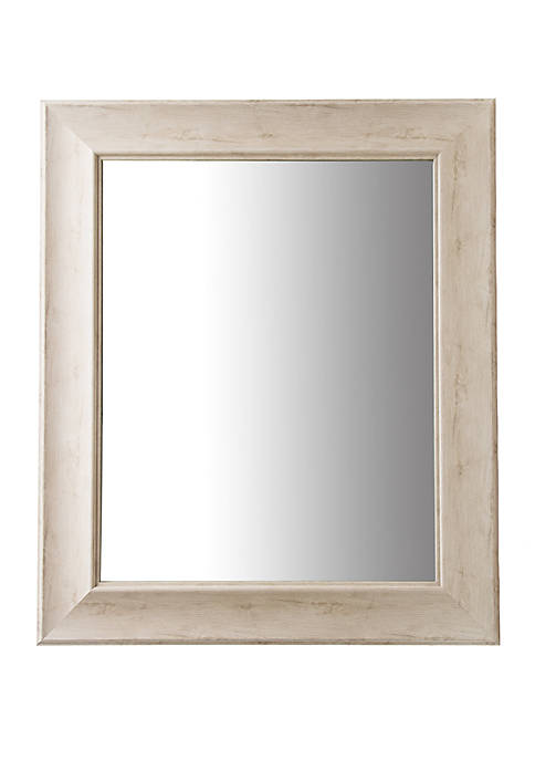 Patton Picture Traditional White Wash Beveled Wall Mirror