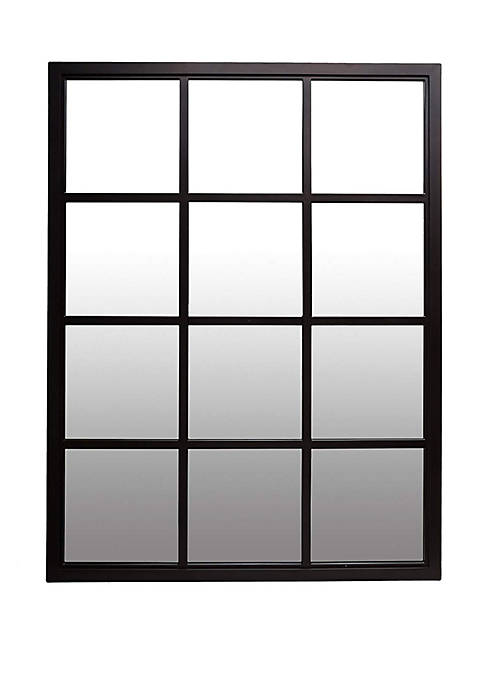 Patton Picture Classic Black Windowpane Mirror
