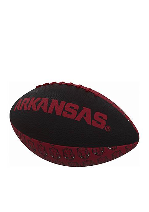Logo University of Arkansas Razorback Mini Rubber Football