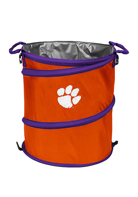 Logo Clemson Tigers Collapsible 3 in 1 Cooler