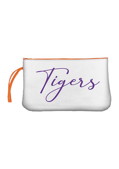 NCAA Clemson Tigers Script Clear Wristlet