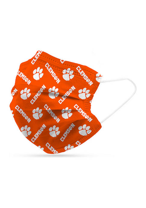 Adult NCAA Clemson Tigers Disposable 6 Pack Face Masks