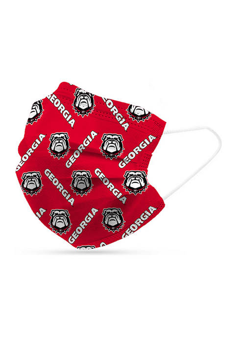 Adult NCAA Georgia Bulldogs Disposable 6 Pack Face Masks