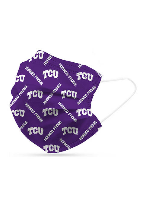 Logo Adult NCAA TCU Horned Frogs Disposable 6