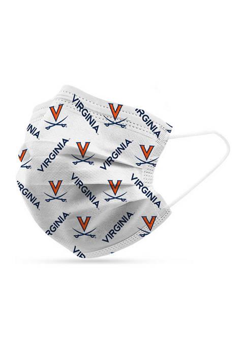 Adult NCAA Virginia Cavaliers 6 Pack Disposable Face Masks