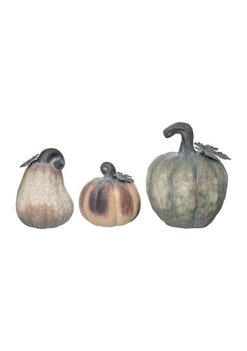 Transpac Large Matte Heirloom Pumpkins