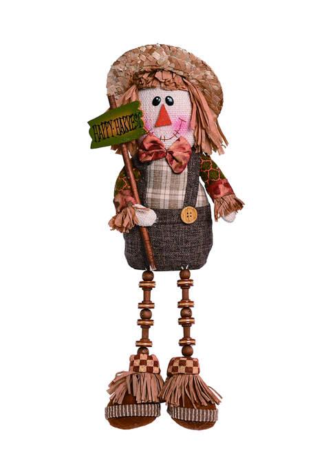 Boy Plush Scarecrow Shelf Sitter