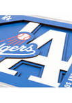 MLB Los Angeles Dodgers 3D Logo Series Wall Art - 12 in x 12 in
