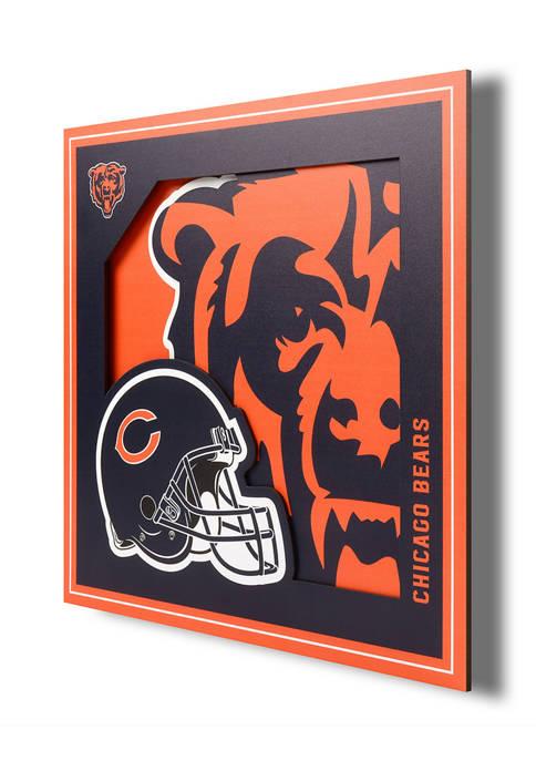 You The Fan NFL Chicago Bears 3D Logo