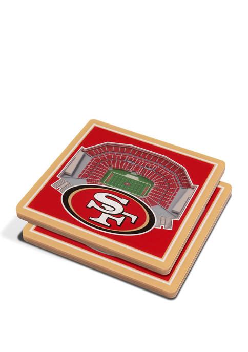 NFL San Francisco 49ers 3D StadiumViews Set of 2 Coasters - Levis Stadium