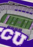 NCAA TCU Horned Frogs 3D StadiumViews Set of 2 Coasters - Amon G. Carter Stadium