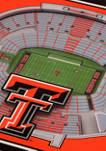NCAA Texas Tech Red Raiders 3D StadiumViews Set of 2 Coasters - Jones AT&T Stadium