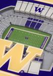 NCAA Washington Huskies 3D StadiumViews Set of 2 Coasters - Husky Stadium