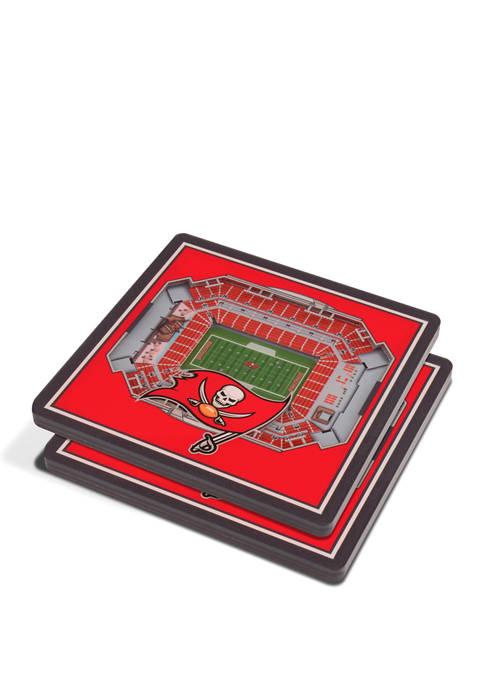 NFL Tampa Bay Buccaneers 3D StadiumViews 2 Pack Coaster Set - Raymond James Stadium
