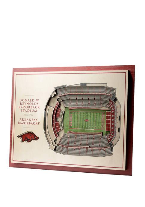 You The Fan NCAA Arkansas Razorbacks 5-Layer Stadium