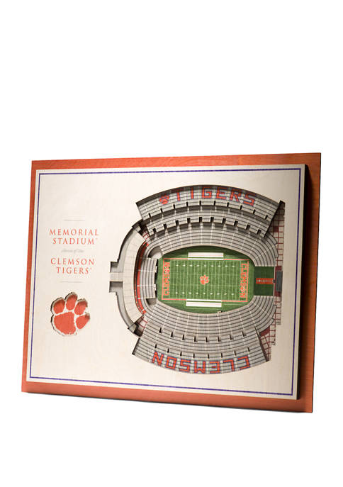 You The Fan NCAA Clemson Tigers 5-Layer Stadium