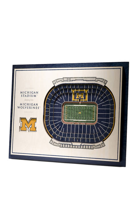 You The Fan NCAA Michigan Wolverines 5-Layer Stadium