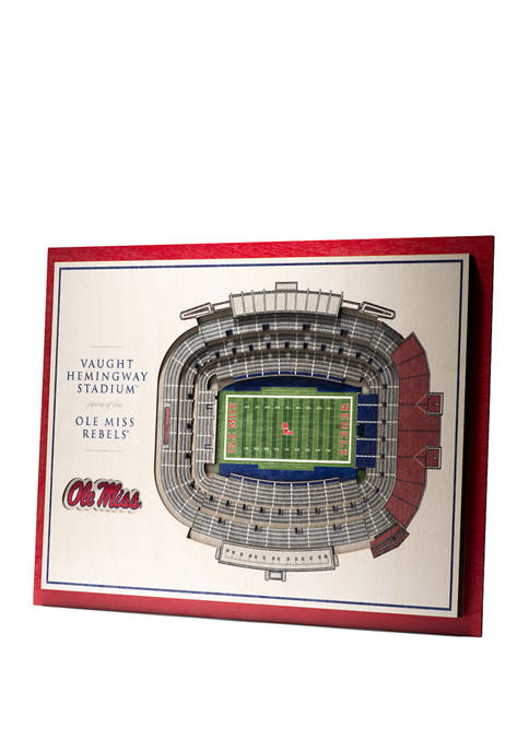 You The Fan NCAA Mississippi Rebels 5-Layer Stadium