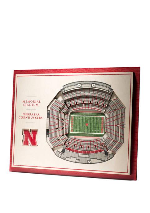 You The Fan NCAA Nebraska Cornhuskers 5-Layer Stadium