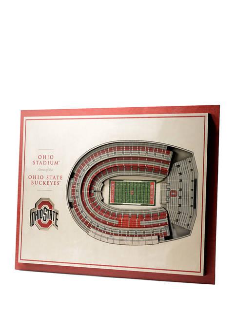NCAA Ohio State Buckeyes 5-Layer Stadium Views 3D Wall Art - Ohio Stadium