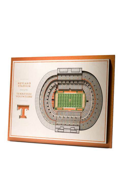 NCAA Tennessee Volunteers 5 Layer StadiumViews 3D Neyland Stadium Wall Art